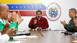 El presidente de Venezuela, Nicolás Maduro, habla durante una reunión con miembros del Gobierno en Caracas, Venezuela, el 12 de marzo de 2019.