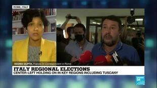 2020-09-22 08:06 Italy's left defeats far-right bid to take stronghold Tuscany