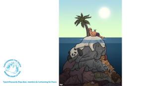 """""""Ça surchauffe pour la planète"""", estime Cartooning for Peace."""