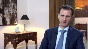Entretien de Bachar al-Assad sur la chaîne de télévision iranienne Khabar TV, dimanche 4 octobre 2019.