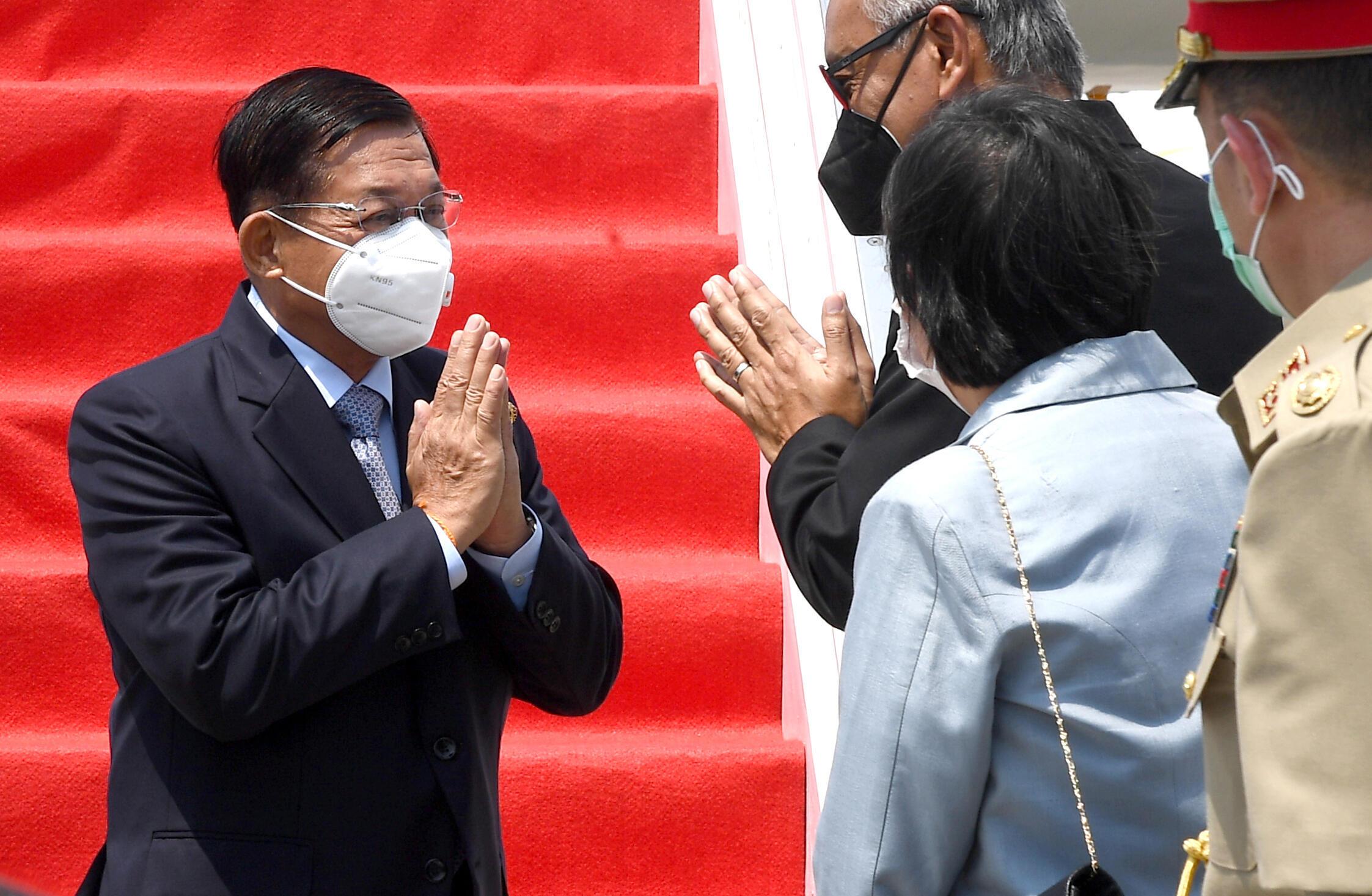 MIN AUNG HLAING ARRIVES ASEAN
