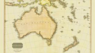 Carte de l'Australie, 1818.