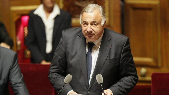 Gérard Larcher, président du Sénat, s'exprimant à la tribune de l'Hémicycle.