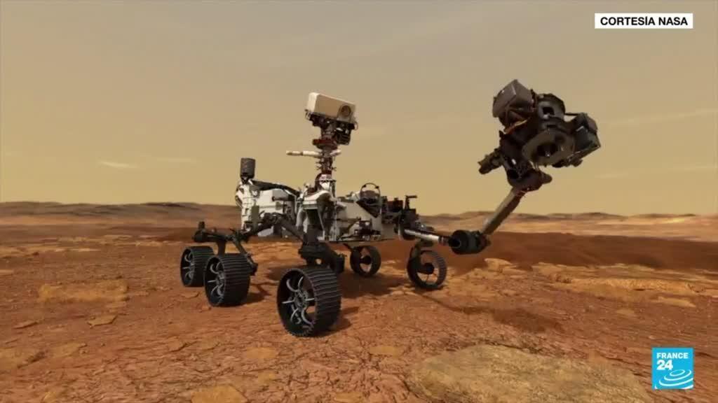 2021-09-11 13:07 El rover Perseverance recolectó sus primeras muestras de rocas en Marte