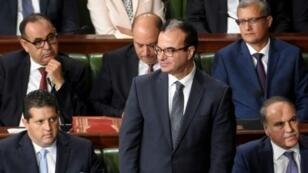 وزير الصحة التونسي سليم شاكر أمام البرلمان في 11 سبتمبر/أيلول الماضي