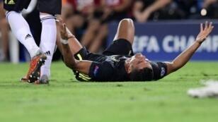 كريستيانو رونالدو يقوم بحركات غريبة بعد طرده من مباراة يوفنتوس وفالنسيا 19 أيلول/سبتمبر 2018