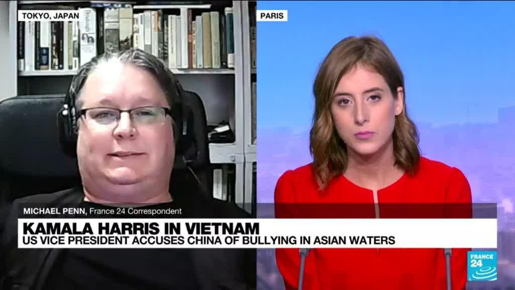 2021-08-25 14:10 Harris urges Vietnam to join US in opposing China 'bullying'