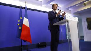 Le chef de file LR pour la campagne des législatives, François Baroin, dimanche 11 juin 2017, au siège du parti Les Républicains, après l'annonce des résultats du premier tour.
