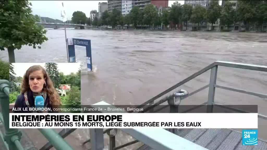 2021-07-16 14:04 Intempéries en Europe : au moins 18 morts en Belgique