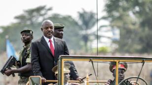 Burundi's President Pierre Nkurunziza arrives for independence celebrations at a stadium in Bujumbura on July 1, 2015