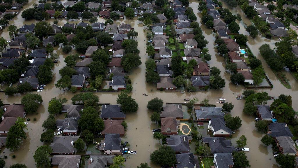 Inondations à Houston, au Texas, après le passage de la tempête Harvey fin août2018.