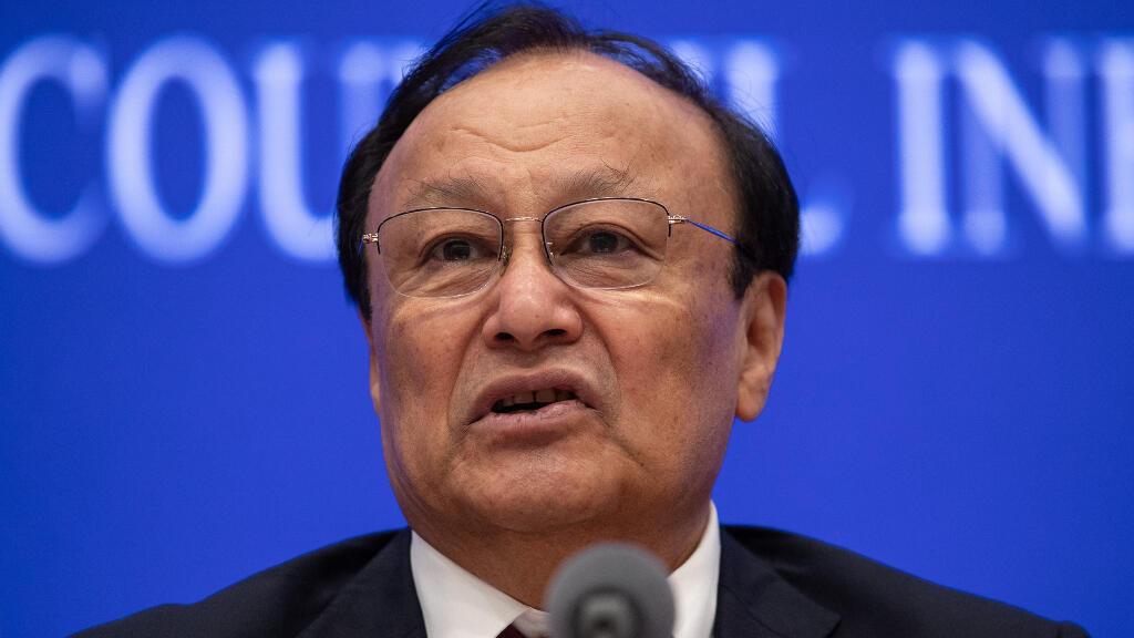 Shohrat Zakir, presidente de la región uigur de Xinjiang, durante una rueda de prensa en Pekin.