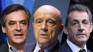 François Fillon, Alain Juppé et Nicolas Sarkozy sont les favoris du scrutin de la primaire à droite.