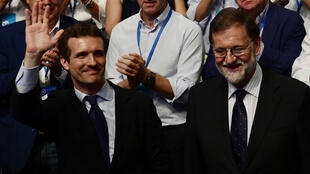 بابلو كاسادو رئيس الحزب الشعبي الإسباني المنتخب خلفا لماريانو راخوي. 21 تموز/يوليو 2018.