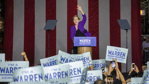 Elizabeth Warren lors de son meeting à New York le 16 septembre.