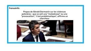 Le ministre de l'Intérieur, Gérald Darmanin