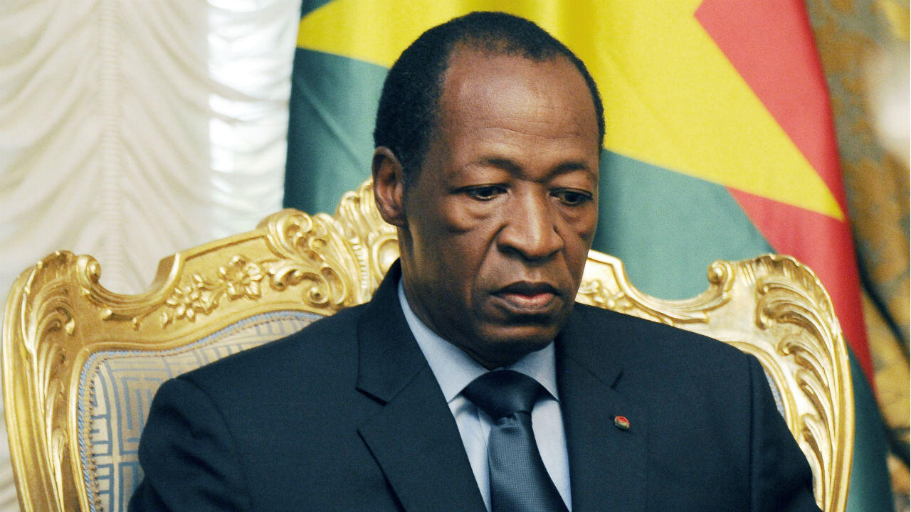 Blaise Compaoré, dans le palais présidentiel à Ouagadougou le 26 juillet 2014.
