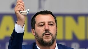 """The interior minister described himself as a """"good Catholic"""" after sparking an outcry for holding up a rosary during a rally of the European far right in Milan on Saturday"""