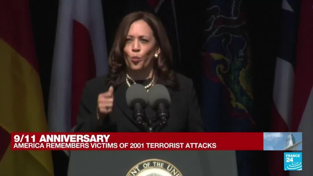 2021-09-11 17:07 9/11 anniversary: 'In a time of terror, we turned toward each other,' says VP Harris