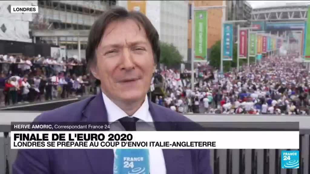 2021-07-11 17:05 Euro2021- A Wembley, les supporters anglais déjà dans les starting-blocks pour la finale de l'Euro