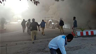 À Wamena, seize personnes ont été tuées et plusieurs bâtiments ont brûlé le 23 septembre.
