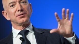 Jeff Bezos le 19 septembre 2018 à une conférence militaire à Oxon Hill près de Washington