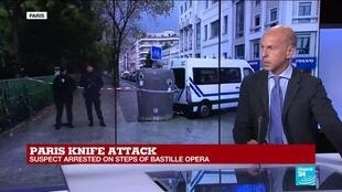 2020-09-25 14:01 Prosecutors open terror inquiry into Paris knife attack