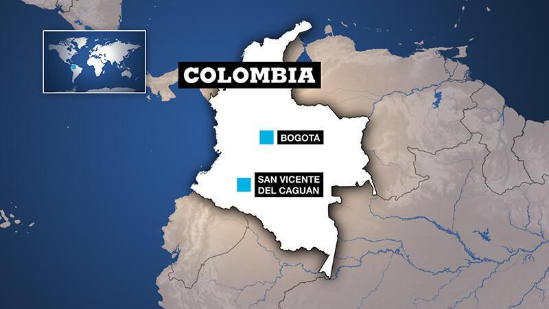 Localización del lugar de la ofensiva gubernamental contra los disidentes del antiguo grupo guerrillero de las FARC