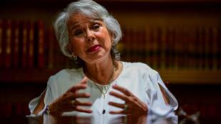Olga Sanchez Cordero à Mexico, le 11 juin 2018.