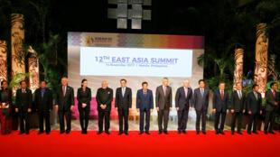 Líderes de países miembros de ASEAN en el cierre del evento.