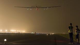 Solar Impulse lors de son décollage depuis la ville chinoise de Nankin, le 31 mai 2015.