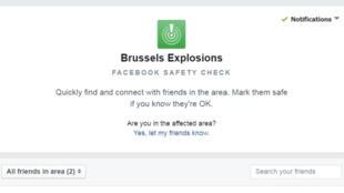 Facebook active en retard son Safety Check après les attentats de Bruxelles le 22 mars 2016.
