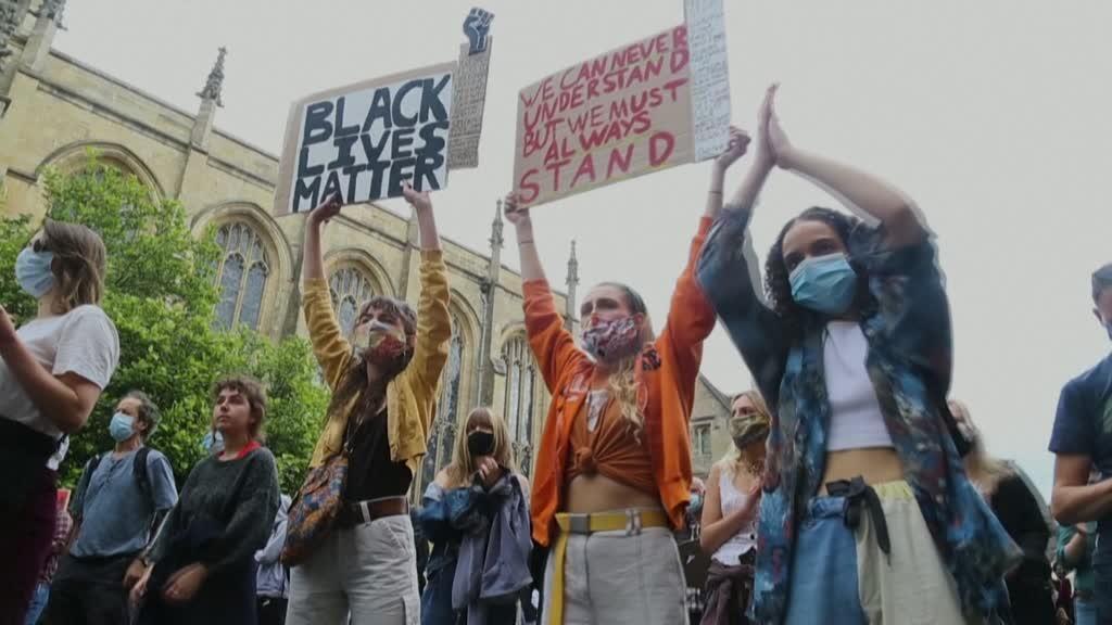 مظاهرة ضد العنصرية