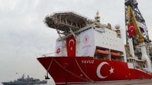 فرقاطة تابعة للبحرية التركية.