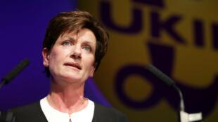 رئيسة حزب الاستقلال البريطاني (يوكيب) دايان جيمس.