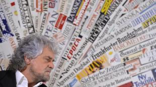 Le leader du Mouvement 5 étoiles, Beppe Grillo, est accusé par Buzzfeed de faire le jeu de la propagande russe.