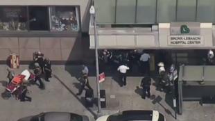 Un homme a ouvert le feu au Lebanon Hospital de New York, vendredi 30 juin 2017.