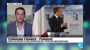 2020-07-01 16:01 Tensions France-Turquie : Paris se retire d'une opération de l'Otan en Méditerranée