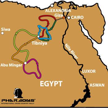 Parcours du Rallye des Pharaons 2012