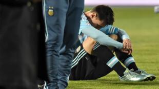 Lionel Messi après la défaite de l'Argentine en finale de la Copa America face au Chili, le 4 juillet 2015.