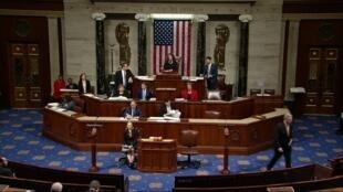 La Chambre des représentants débat des articles d'impeachment contre Donald Trump mercredi 18 novembre 2019.