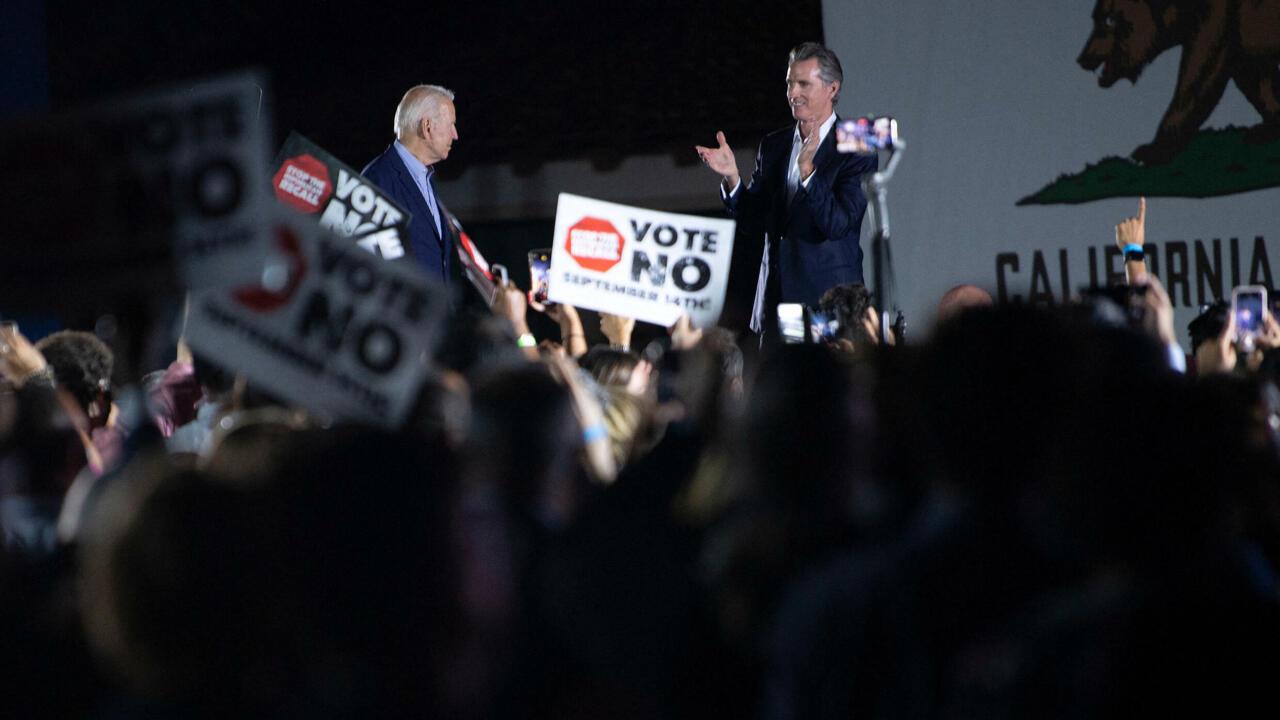California Governor Newsom defeats Republican-led recall effort, US TV networks
