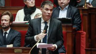 Olivier Faure à l'Assemblée nationale, le 25 février 2020