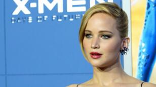 """Jennifer Lawrence lors de l'avant-premier du dernier opus de """"X-Men"""", le 10 mai, à New York."""