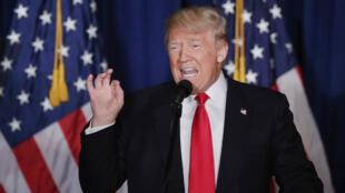 Le candidat républicain Donald Trump lors d'un discours sur la politique étrangère américaine, le 27 avril 2016 à Washington.