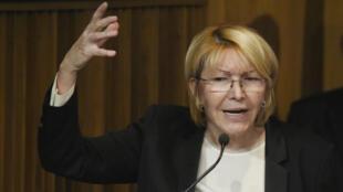La Procureure générale Luisa Ortega lors d'une conférence de presse, ce mardi 4 juillet.