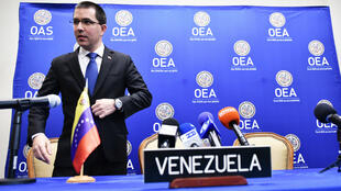 Le ministre vénézuélien des Affaires étrangères Jorge Arreaza (archives).