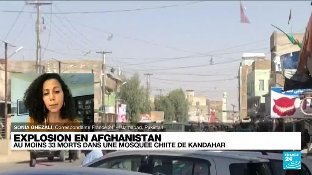 2021-10-15 15:01 Afghanistan : au moins 33 morts dans l'explosion d'une mosquée à Kandahar