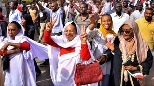 Dans les rues de Khartoum, le 11 avril 2019.