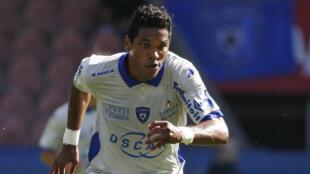 Le joueur de Bastia, Brandao, lors de la rencontre face au PSG.